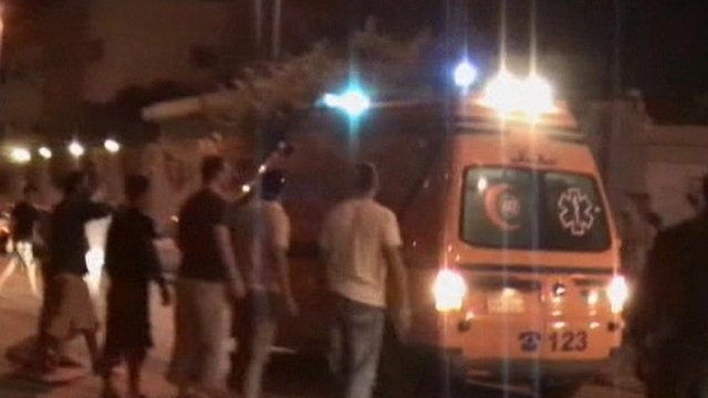 Ambulances arrive in al-Arish