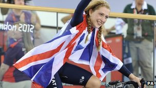 Laura Trott, double Olympic medallist in cycling