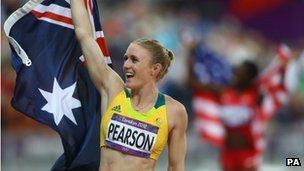 100 metres hurdles gold medallist Sally Pearson