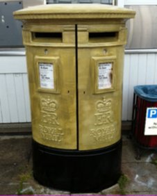 Nick Skelton's gold postbox