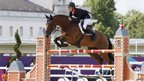 Scott Brash riding Hello Sanctos during the Equestrian Team Jumping
