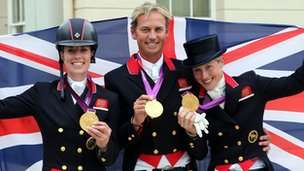 Charlotte Dujardin, Carl Hester and Laura Bechtolsheimer