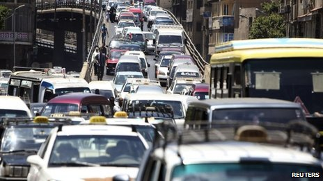 Traffic jam in Cairo (June 2012)