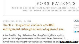 Foss patents screenshot