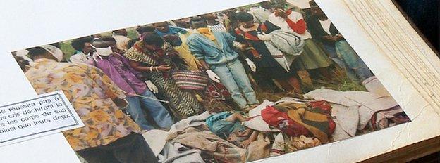 Rose Hakizimana's photo album documenting the massacre of Tutsis in Burundi in 1993