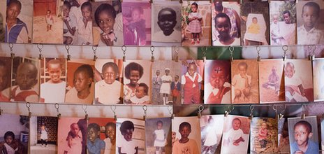 Photos of victims of the Rwandan 1994 genocide