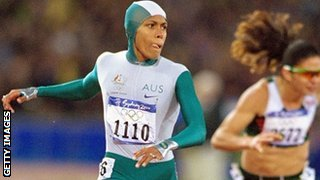 Australian sprinter Cathy Freeman