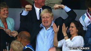Boris Johnson celebrates Team GB's athletics successes