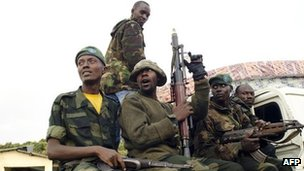 Rebels in eastern DR Congo on 23 July
