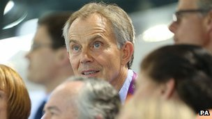 Ton Blair at the aquatics centre
