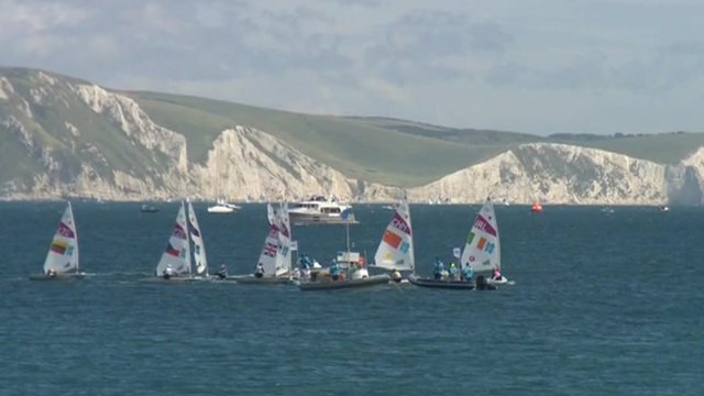 Weymouth Bay Olympic sailing race