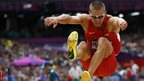 Trey Hardee of the United States. competes in the men's decathlon long jump