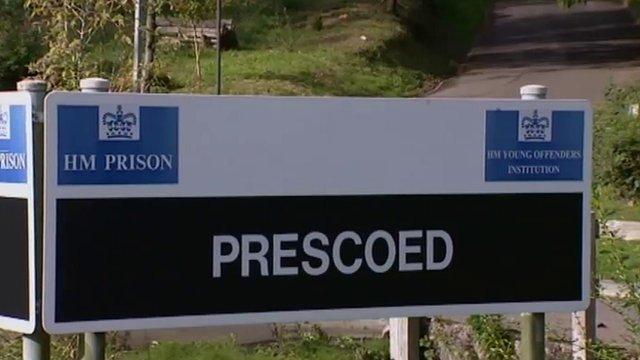 HMP Prescoed sign