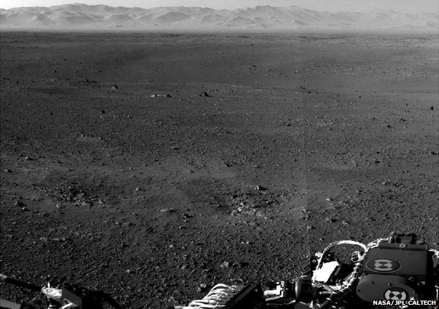 Curiosity captures Mars horizon