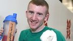 Paddy Barnes celebates after his quarter-final victory