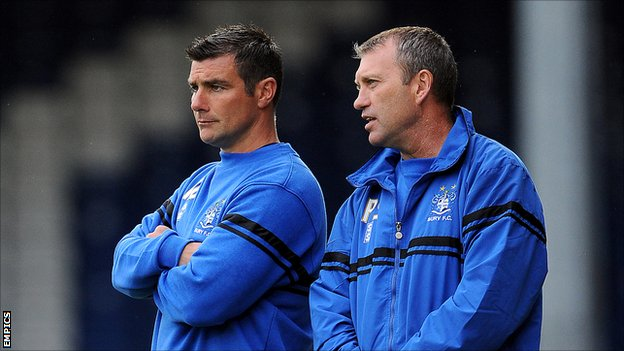 Richie Barker (l) and Peter Shirtliff