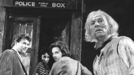 A scene from the first Doctor Who story An Unearthly Child in 1963