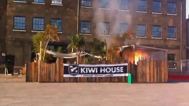 A fire broke out at Kiwi House on Wednesday evening