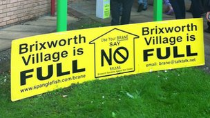 Brixworth is full banners at Daventry District Council