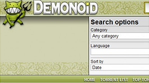Demonoid screenshot