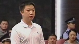 Zhang Xiaojun in court in Hefei (9 Aug 2012)