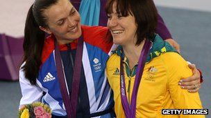 Victoria Pendleton and Anna Meares