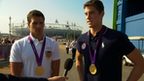 US Gold medallist swimmers Ryan Lochte and Conor Dwyer