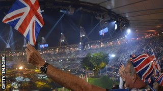 A view from inside London's opening ceremony