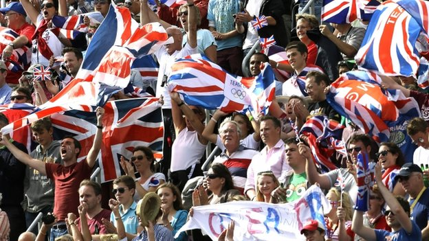 British fans at the London Olympics