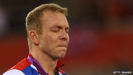 Chris Hoy crying