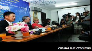 The press conference in Chiang Mai