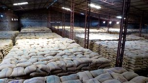 Grain warehouse in Madhya Pradesh