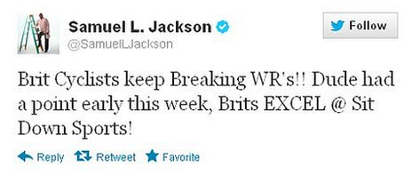Screenshot of Samuel L Jackon's tweet