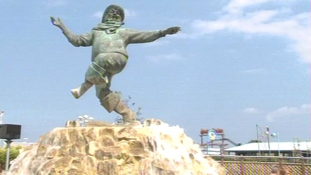 Jolly Fisherman statue in Skegness