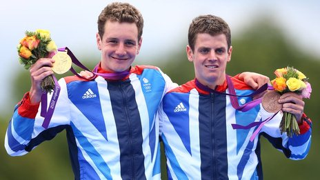 The Brownlee brothers won gold and bronze in the 2012 triathlon