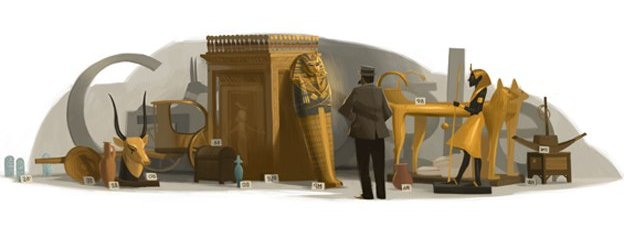 Doodle celebrating Howard Carter&#039;s 138th birthday