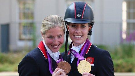 Charlotte Dujardin and Laura Bechtolsheimer