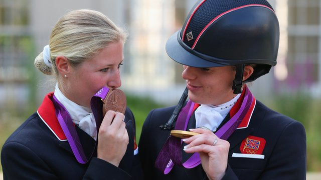 Medal delight for dressage pair