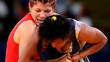 Britain's Olga Butkevych and Ecuador's Lissette Alexandra
