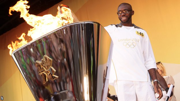 Fabrice Muamba, Olympic torch relay