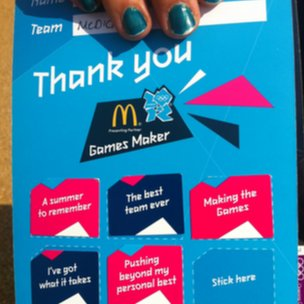 Laura Morgan's Games Maker sticker card