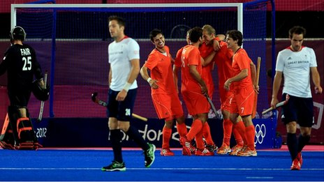 GB men react to another Dutch goal