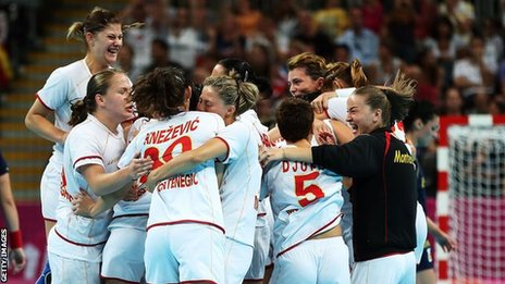 Montenegro's handball women's team