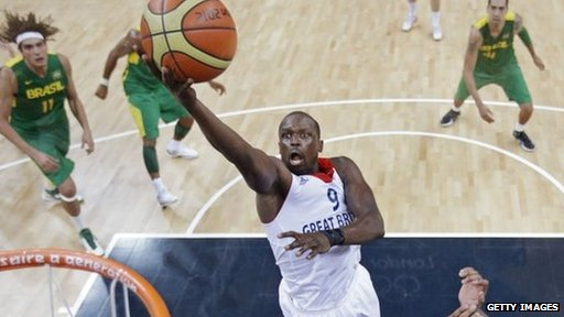 Luol Deng  in action at the 2012 Olympics