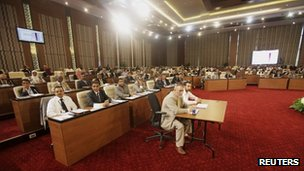 Libya's interim National Congress meeting on 9 August 2012 to elect a chairman