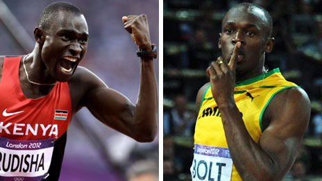 David Rudisha and Usain Bolt