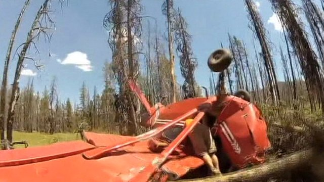 Crashed plane in Idaho