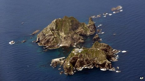 File images of the islands known as Dokdo in South Korea and Takeshima in Japan