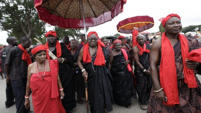 Mourners in Ghana