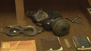 Items at Waterbeach military museum